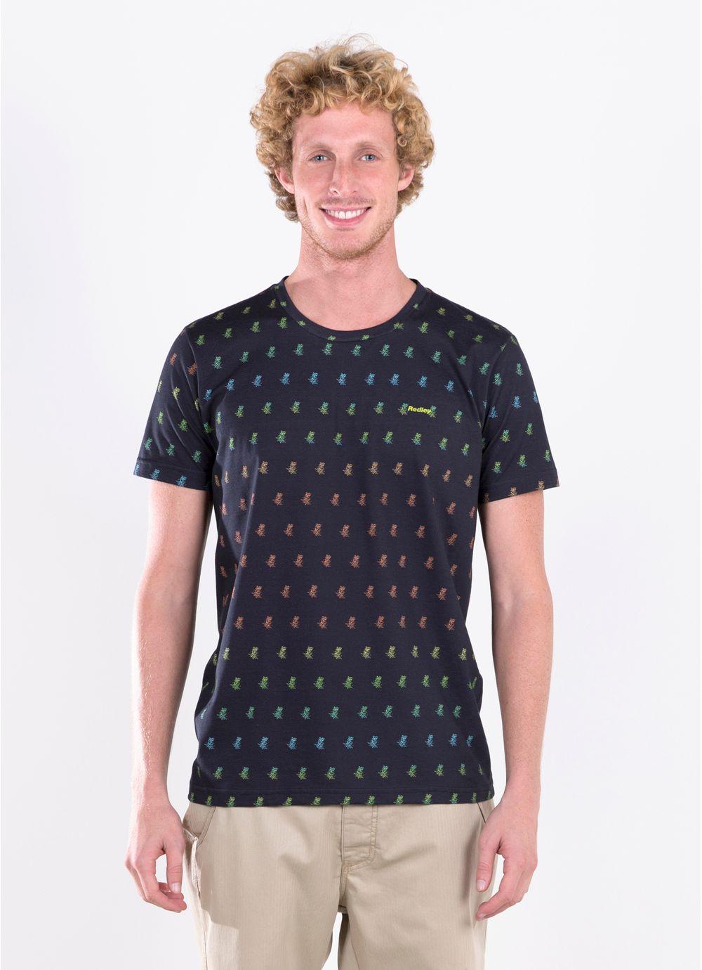 T shirt full print ananas preto redley for Full t shirt printing