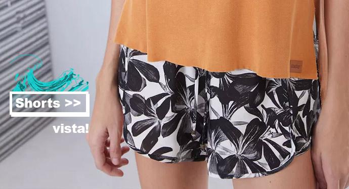 shorts jeans, shorts estampados, shorts coloridos na black friday da redley