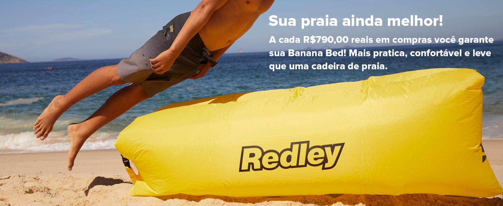 Redley Praia, banana bed, full banner