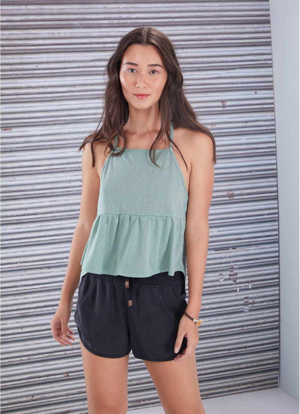 4708f829cc REGATA MALHA RECORTE FRANZIDO VERDE ESCURO - Compre Online na Redley!
