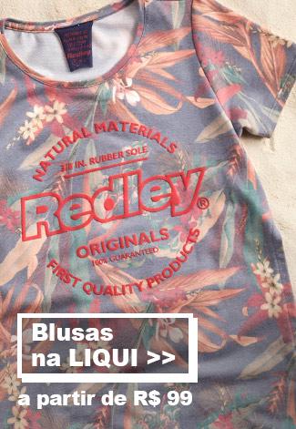 Blusas na liqui Femininos na Redley