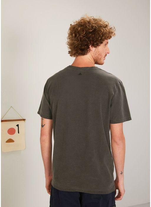 45d9286527 T-shirt manga curta flame básica gola v PRETO - Compre Online na Redley!