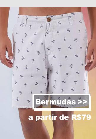 Bermudas masculinas na promo