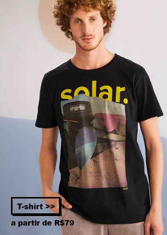 T-shirt masculinas Redley na Liqui