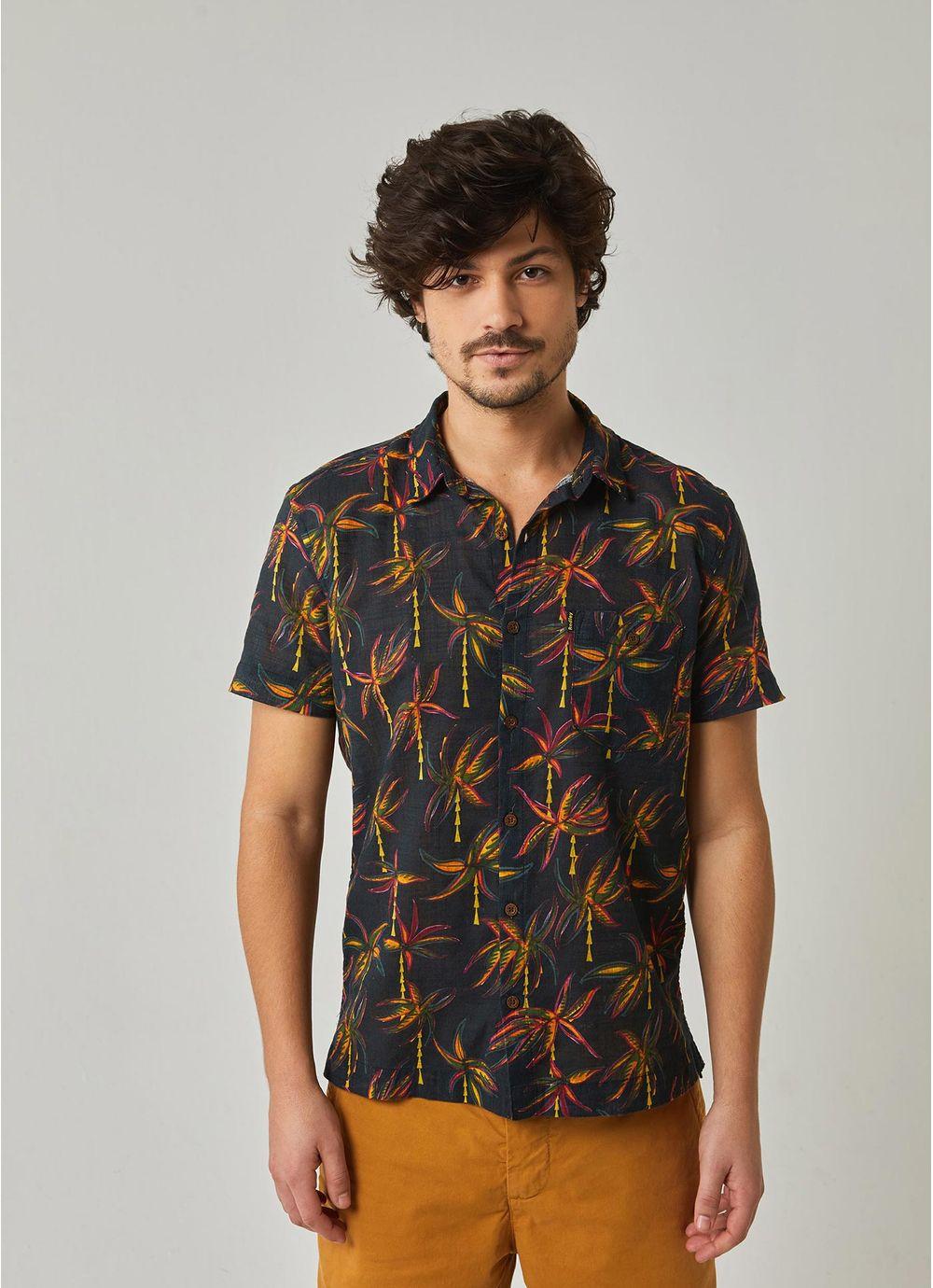 a69bc2291ab Camisa manga curta estampada coqueiral PRETO - redley