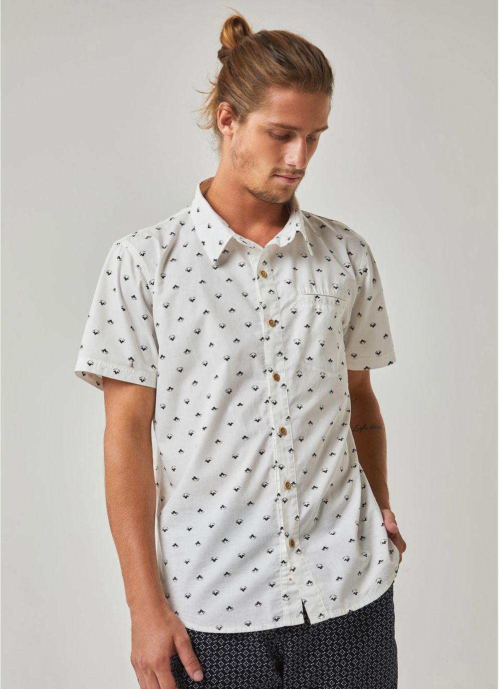 564137a63 Camisa manga curta estampada pattern mini icons BRANCO - Compre ...