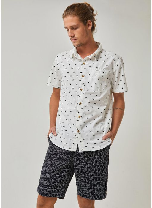 635c2679b2 Camisa manga curta estampada pattern mini icons BRANCO - Compre ...
