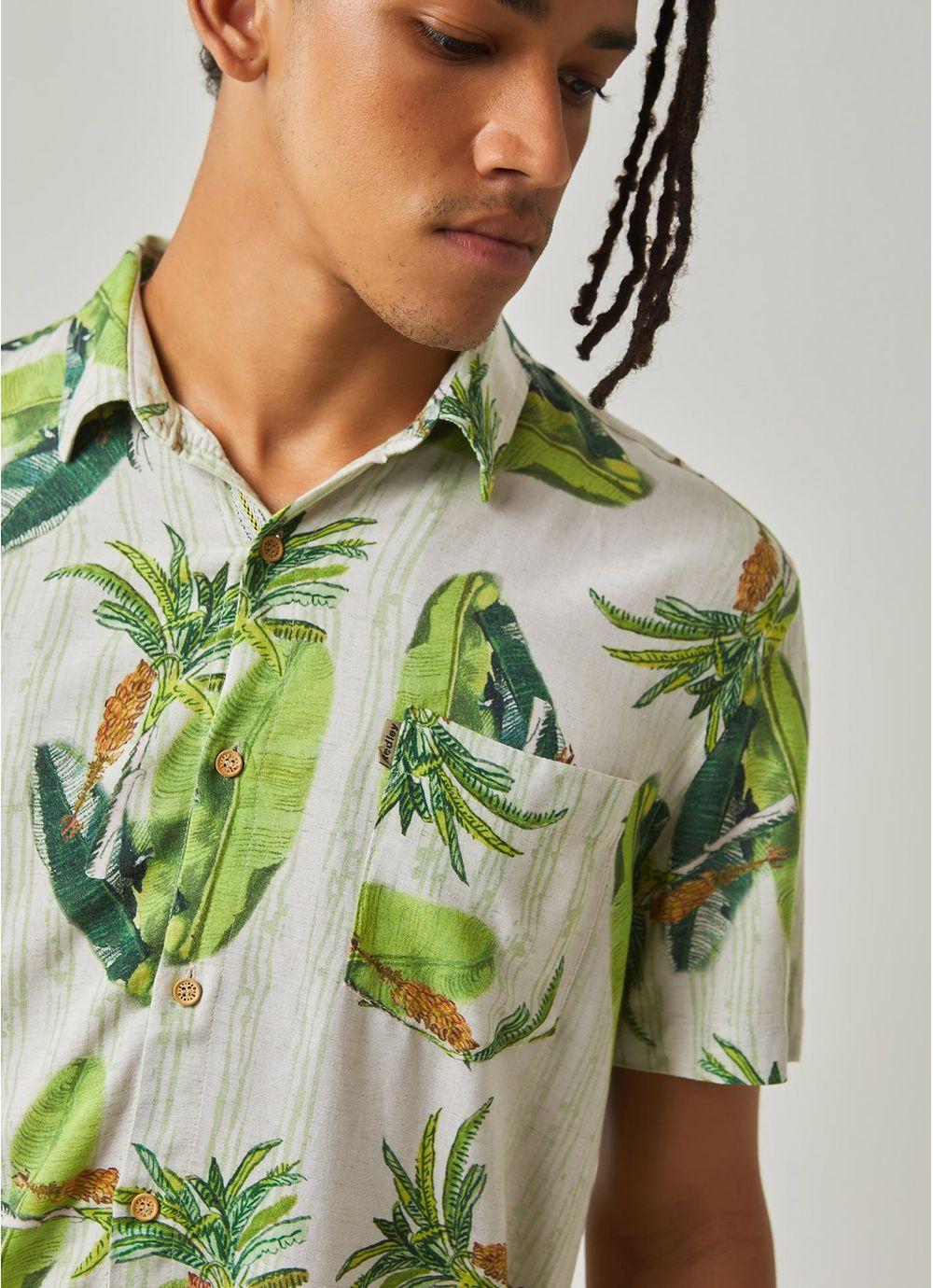 c1d17d805d camisa manga curta estampada bananeiras BRANCO - Compre Online na ...