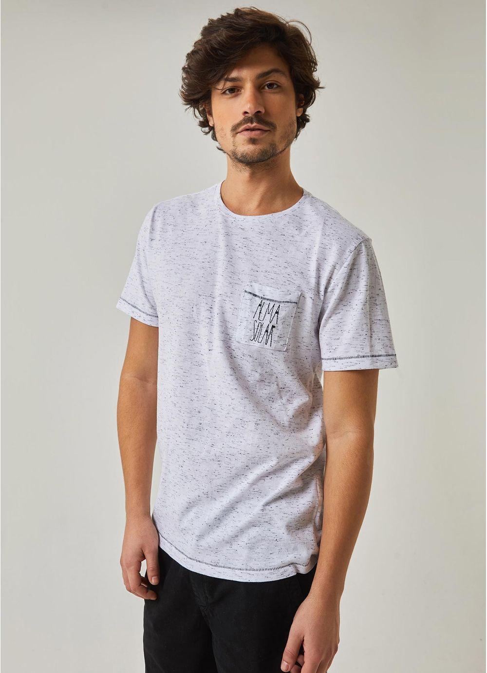 c4caacb833 T-shirt manga curta bolso bordado BRANCO - Compre Online na Redley!