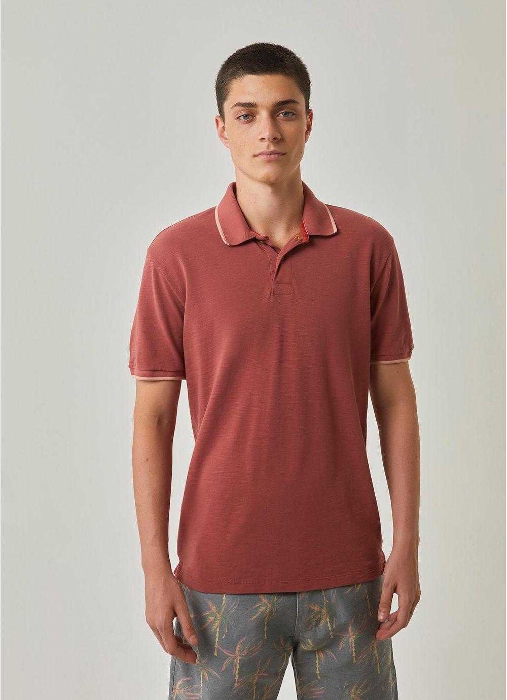 fb4c28083a Camisa polo piquet flame originals MARROM - Compre Online na Redley!