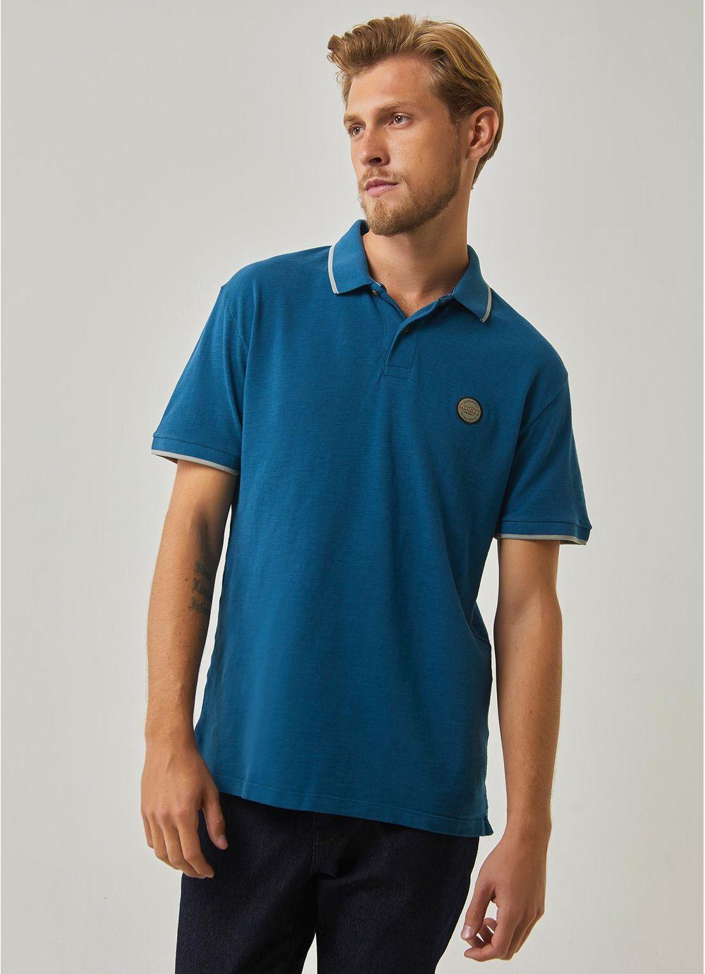 e9bcab130a Camisa polo piquet flame originals AZUL - Compre Online na Redley!
