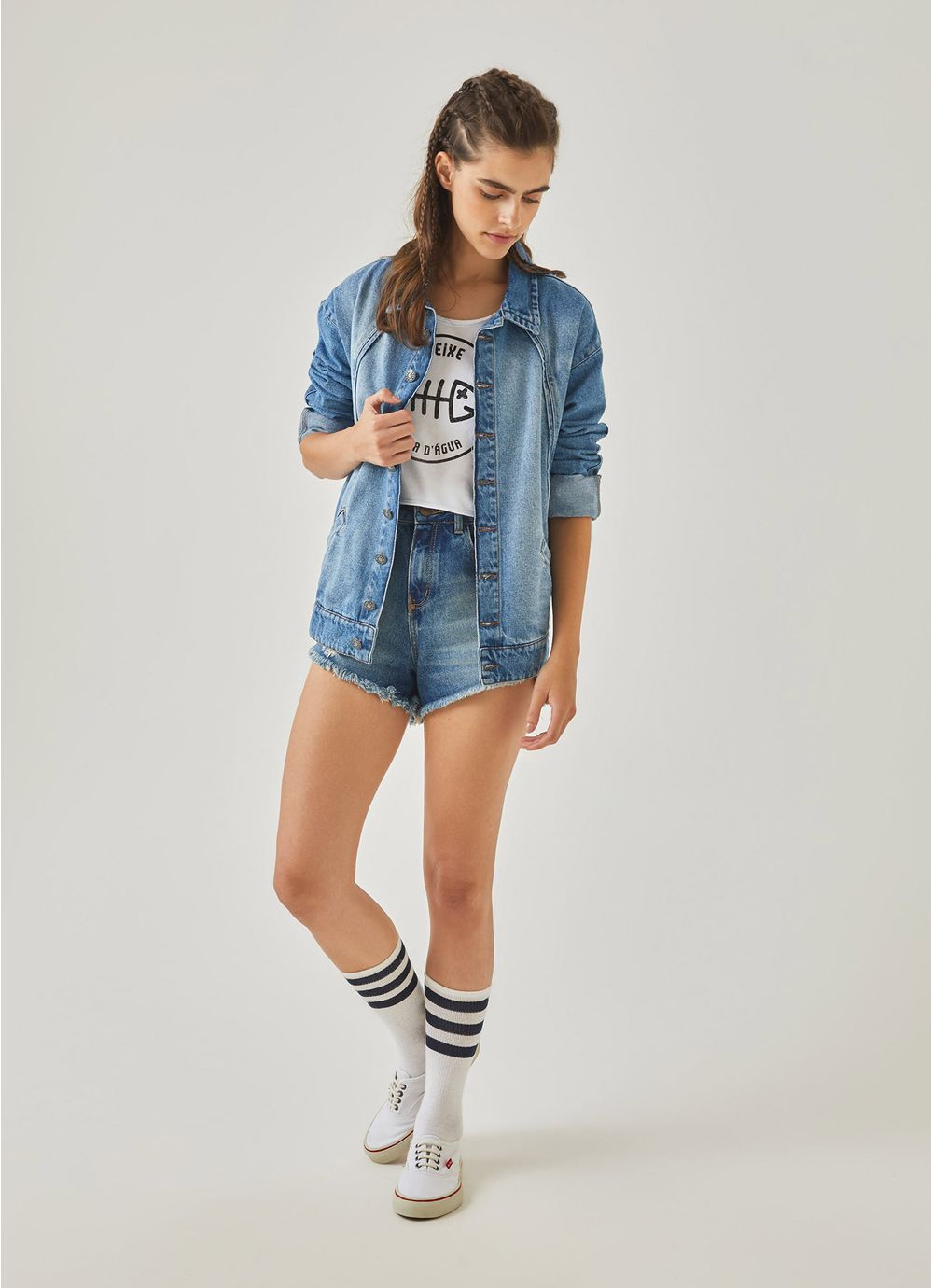f67473c83f Jaqueta jeans anos 90 JEANS - Compre Online na Redley!