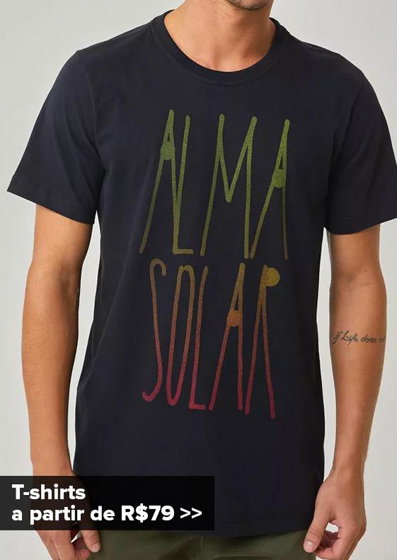 T-shirts Masculinas - Coleção Trovão Tropical
