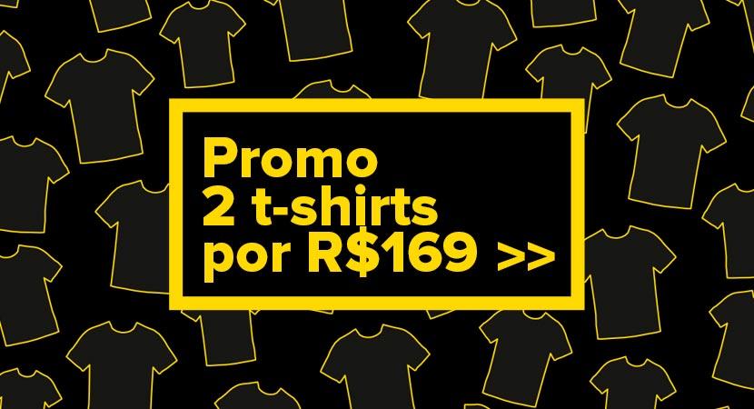 2 t-shirts por 169